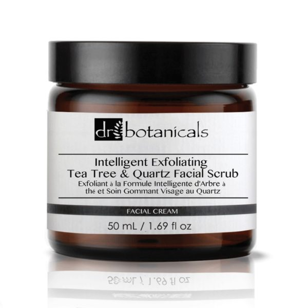 Intelligent Exfoliating tea tree and quartz facial scrub